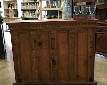 Rustic Bar With Footrail for a Mancave