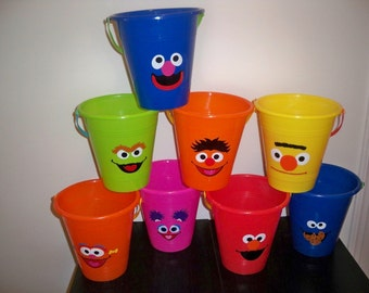 SESAME STREET BIRTHDAY party favor pails (price is for one large pail )