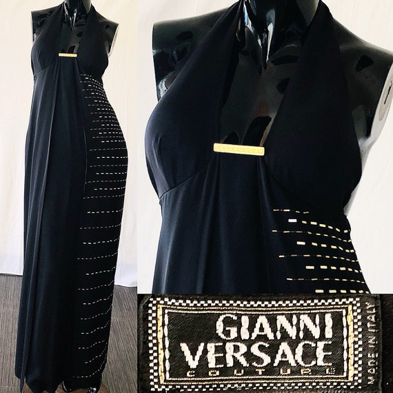 XS Sequin Vintage Versace Silk Dress Gianni Evening Gown Couture Versace 90s S Versace xfwPXTHqTZ