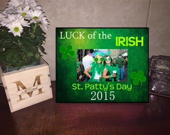 Luck of the Irish Picture Frame/ St Patricks Day Frame