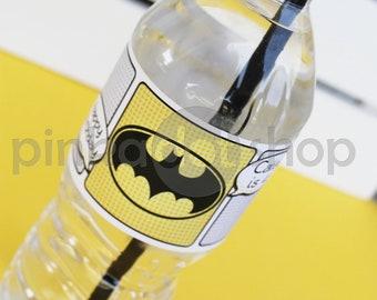 Superhero Collection. PERSONALiZED Water Bottle Labels. DIY Printable Design. Pinkadot Shop