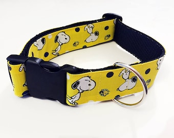 Snoopy! Peanuts! Charlie Brown!- Handmade MARTINGALE or BUCKLE dog collar