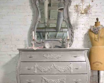 Painted Cottage Chic Shabby Romantic French Bombay Annie Slone French Linen Dresser DR939