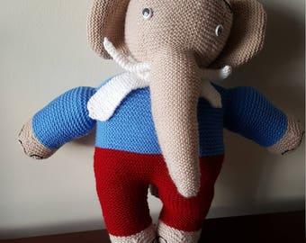 Handmade elephant - stuffed toy