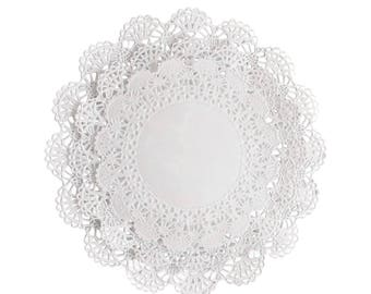 "150 ct. Cambridge 4"" 5"" 6"" (50 of each) Paper Lace Doilies Variety Pack Doily Assortment"