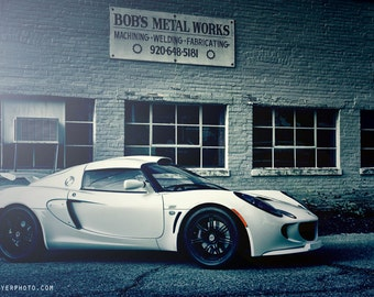 Man Cave, Exotic Car Art, Automotive Decor, boys room decor, gift for him, Large Wall Art, Garage Decor, Lotus Exige S