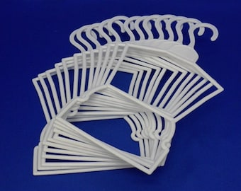 Doll Clothes Hangers- for American Girl Doll Clothes- Lot of 12 Plastic Outfit Hangers Fit AMERICAN GIRL DOLL Clothes
