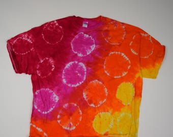 Center of the Earth Spots&Dots Tie Dye T-Shirt (Gildan Ultra Cotton Size 4XL) (One of a Kind)