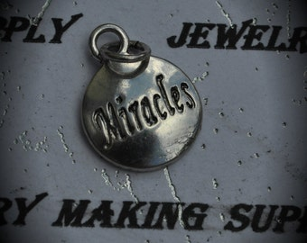 Miracles Sterling Silver Plated Charm