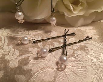 Wedding bobby pins, Bridal Gift, Bridal Bobby pins, Bridal hair accessory, Bridal Party Hair accessory,
