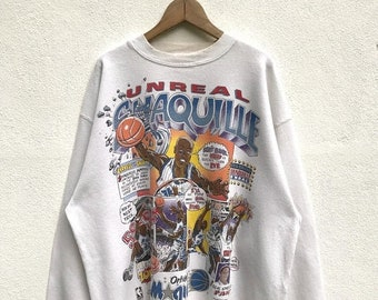 ON SALE 20% OFF Vintage Shaquille O'neal Orlando Magic Sweatshirt / Nba Sweatshirt / Shaquille Cartoon Sweater