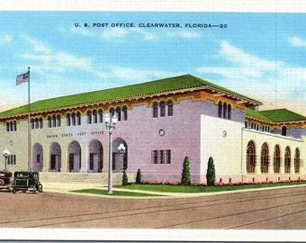 Clearwater, Florida, Post Office - Vintage Postcard - Postcard - Unused (YYY)