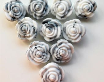 10 silicone 21mm colour lactancia-10 Marmol-collares flowers flowers Silicone beads MARBLE 21 mm - Nursing necklace - Silicone Teethers