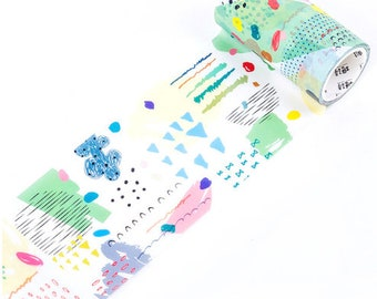 Washi tape-strokes and dots 1