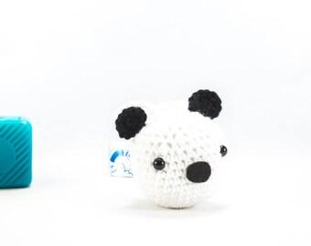 Car accessory, crochet panda, panda, car hanger, car mirror, car decor, Crochet Animal Panda decoration, amigurumi panda, stuffed panda