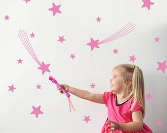 Fairy Tale Star Wall Decals Nursery Star Wall Art Star Room Decorations Star Wall Stickers (Pack of 31)
