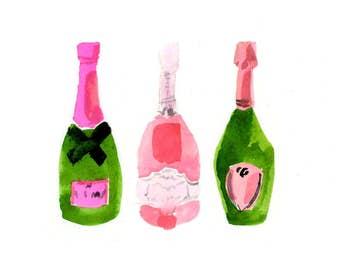 Bar Cart Art: Pink Champagne