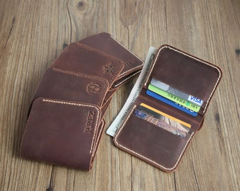 Mens Wallets, Leather Wallet, Personalized Leather Wallet, Front Pocket Slim, Minimalist bifold Wallet, Mens Leather Wallets, Xmas Gift