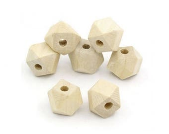 40 wood polygon 13x10mm