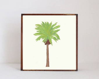 palm tree, tropical nursery art boho nursery decor gender neutral baby, wall decor, boho geometric prints, nursery art, redtilestudio