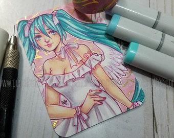ACEO original - Angel Miku