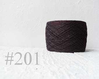 Dark Brown linen crochet thread 3ply #201