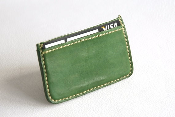 Green business card holder leather card holder card holder green business card holder leather card holder card holder business card case business card man gift woman gift card case cowhide colourmoves Choice Image