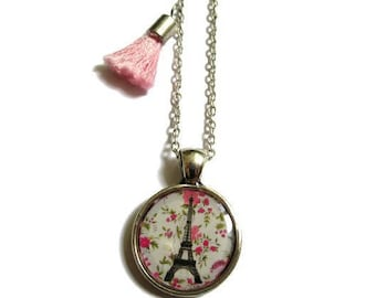 KIDS JEWELRY - Eiffel Tower Necklace - Gift for Kids - Girls Necklace - Paris Necklace - Pink Necklace- Girls Jewelry - Gift for tween