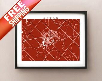 Acton Map Print