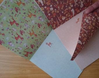 Kawaii origami letter pad