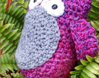 Inquisitive Curly Crochet Owl
