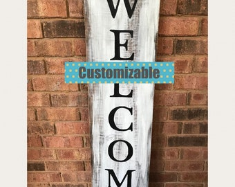 Welcome Porch Sign, Vertical Porch Sign, Farmhouse Porch Decor, Vertical  Porch Sign, Farmhouse Sign, Rustic Porch Decor, Fixerupper style