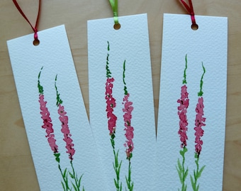 Unique Bookmarks/Personalized Bookmarks/Floral Bookmarks/Hand-Made Bookmarks/Watercolour Bookmarks/Paper Bookmarks/Paper Gifts