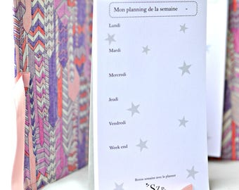 Weekly Blog Planner, A5 or A6 notepad, 50 sheets planner, minimalist weekly starry, Do list, punch sheets, planning, weekly time schedule