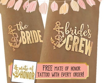 Tattoos for your destination wedding - Hawaiian wedding - Carribbean wedding - Perfect for a cruise ship wedding - I love boating