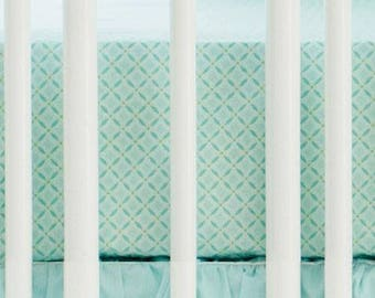 Aqua Ombre Crib Baby Bedding Set | Crib Sheet