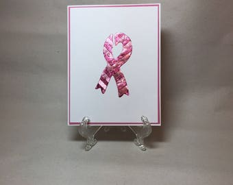 Iris Folding Breast, Handmade, Cancer Awareness Pink Ribbon Card