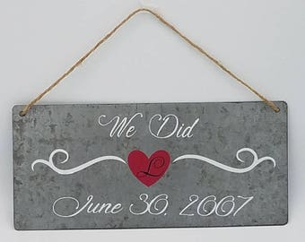 We DID Tin Hanging Plaque with Twine Hanger