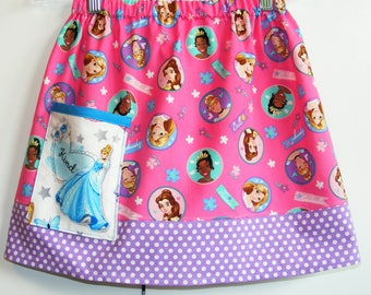 Disney Princess skirt with Cinderella pocket   (2T, 3T, 4T, 5T, 6, 7, 8, 10)