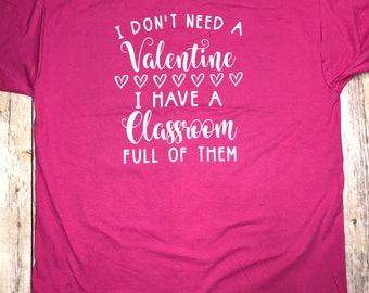 Teacher Valentine's Short Sleeve
