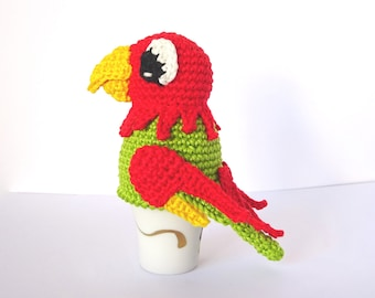 Crochet Parrot Egg Cozy Pattern, PDF