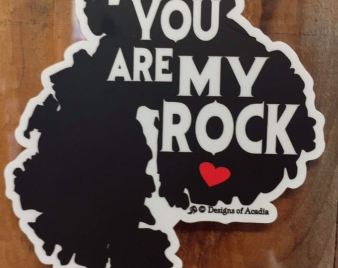 """Featured listing image: Sticker - """"MDI - You Are My Rock"""" - Vinyl Sticker"""