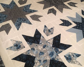 Something Blue Snow Blossoms Quilt