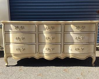 Vintage French 9 Drawer Dresser