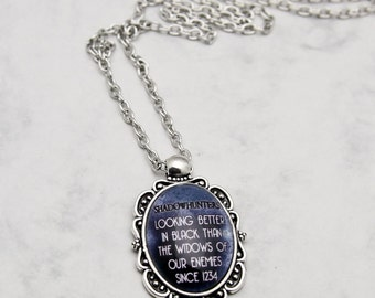 Mortal Instruments Shadowhunters City of Bones necklace pendant fashion jewelry quote motto Jace Wayland Clary Fray Lightwood institute 1234