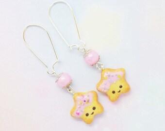 Earrings star cookies
