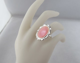 Pink Shell Costume Jewelry Adjustable Ring