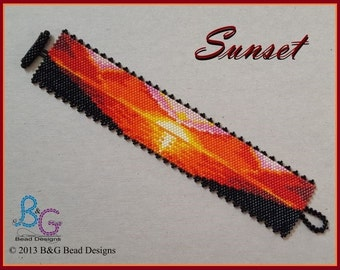SUNSET Peyote Cuff Bracelet Pattern