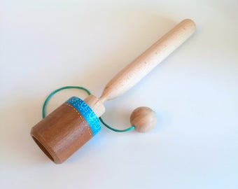 Cup and Ball Game, Waldorf Inspired, Wooden Toys. Eco-friendly toys for kids, Party favor for kids
