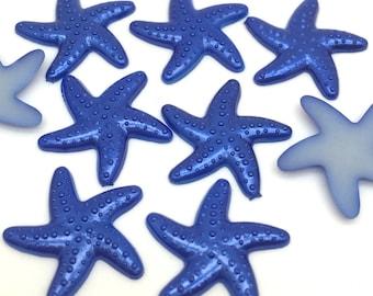 Blue Resin Star Fish Embellishments- 25 pcs. #E001